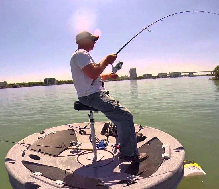 Ultraskiff 360 a circular personal fishing or hunting boat for Personal fishing boat