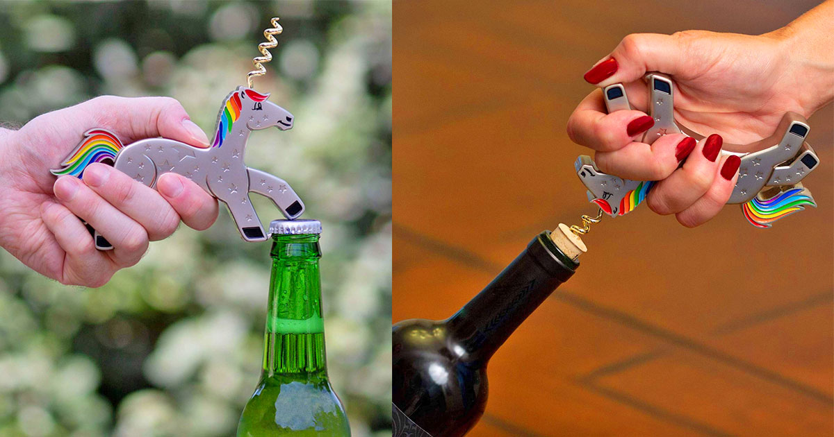 Unicork: Unicorn Wine and Bottle Opener