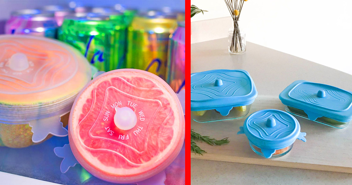 Unilid Universal Lid Lets You Track How Old Your Leftovers Are