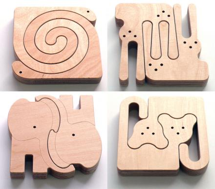 Unique Wooden Animal Puzzles For Babies