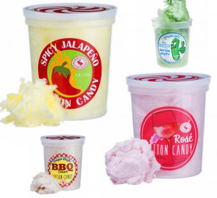 Unique Cotton Candy Flavors, Including Jalapeño, Pickle, Rosé and more