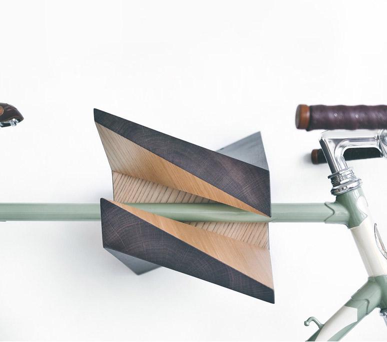 Unique Iceberg Wall Mounted Wooden Bike Hanger
