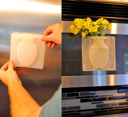 Unique Silicone Flower Vase Lets You Put Flowers Anywhere