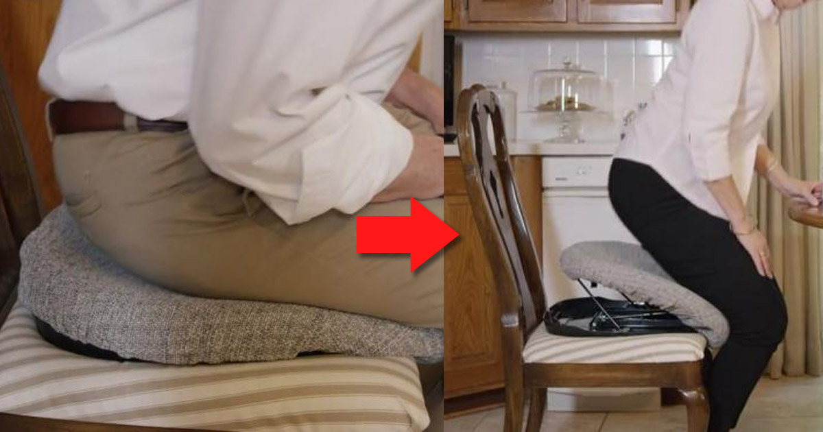 Auto-Lifting Cushion Helps Seniors and Disabled Easily Get Up From Sitting
