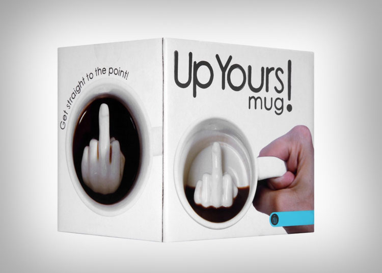Up Yours Middle Finger Mug