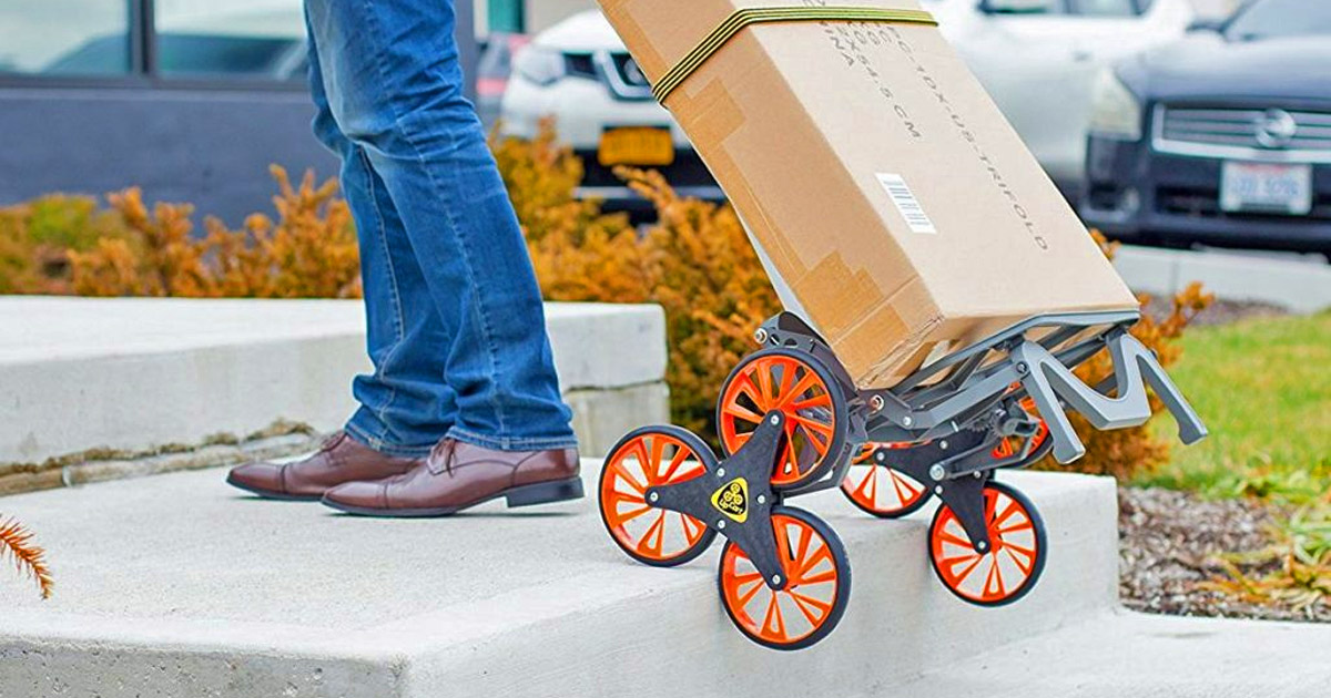 UpCart: A Stair Climbing Trolley That Helps You Haul Heavy Objects Up and Down Stairs