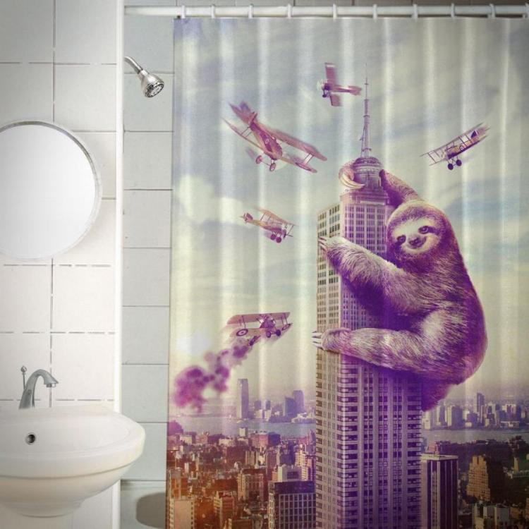 The Slothzilla Shower Curtain
