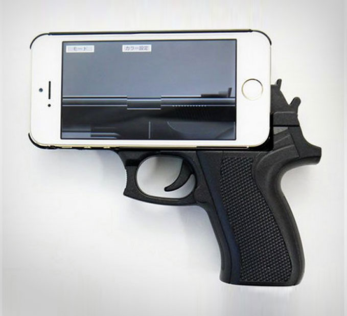 Yet Another Case That Will Never Let You Put Your Phone In Pocket The Hand Gun IPhone Makes It Look Like Youre Actually Holding Onto A Real