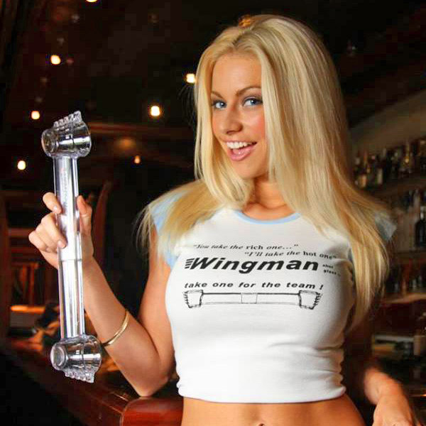 Wingman Shot Glass: Mini Shotski Tube, Lets You Take a Shot With a Friend