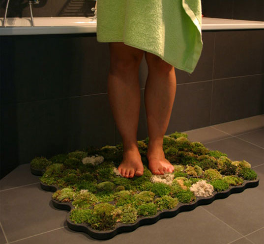This Bath Mat Made From Actual Moss