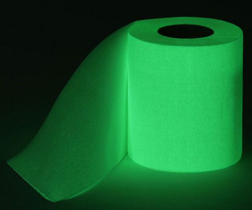 This Glow In The Dark Toilet Paper