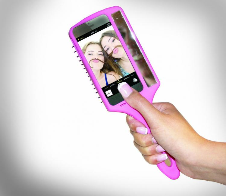 The Selfie Brush Is an iPhone Case and Hair Brush