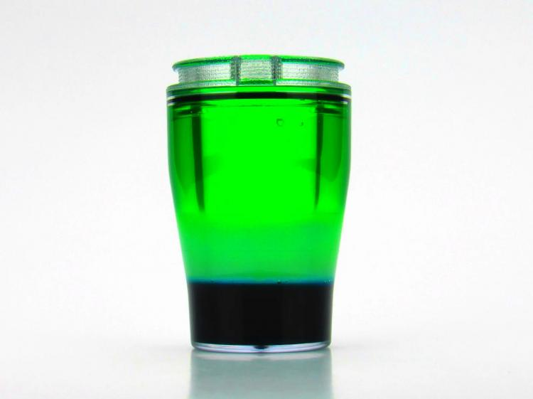 DoubleTake Shot Glass - Shot glass with second container for shot chaser - release finger hole to drink chaser