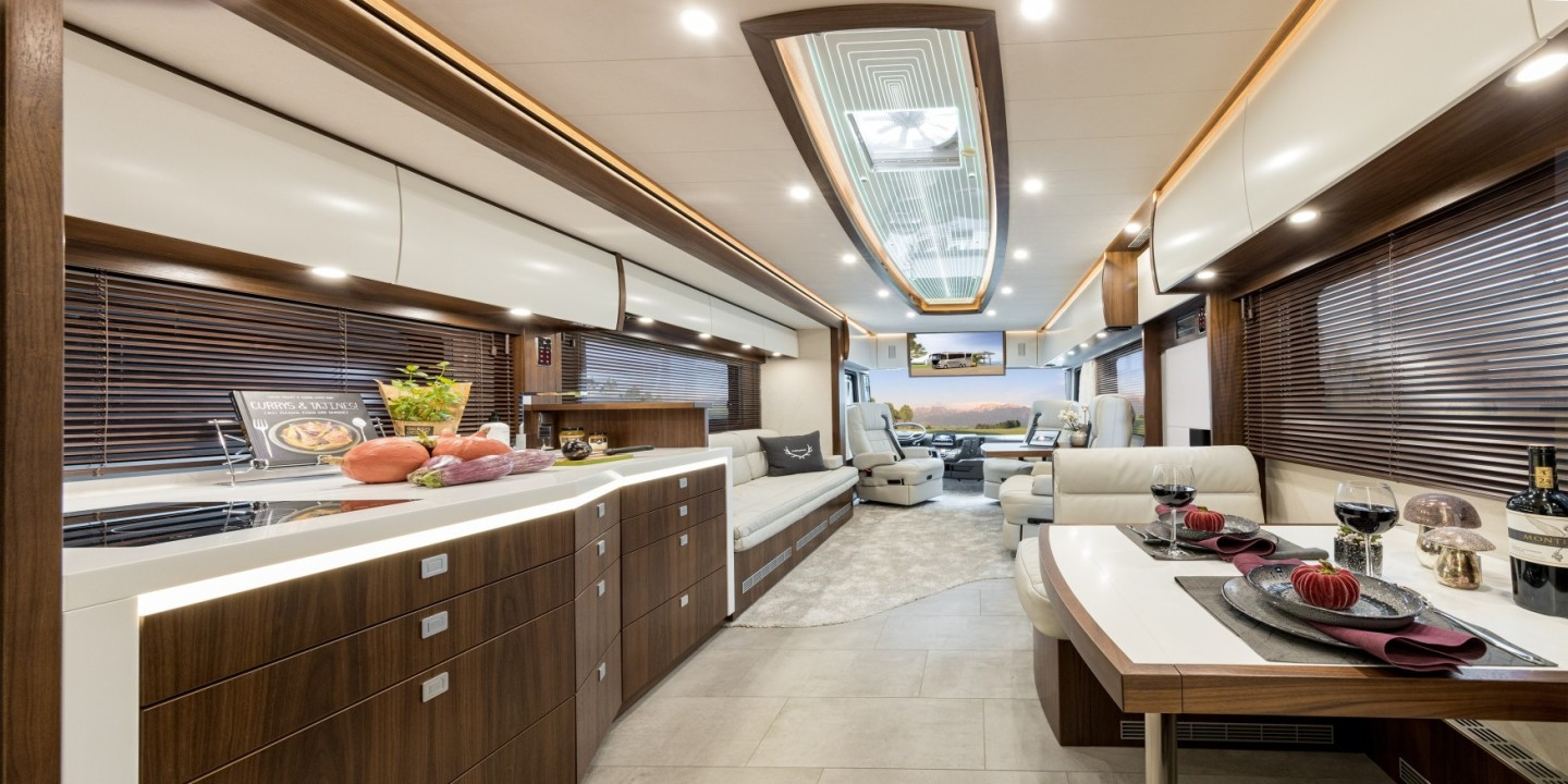 1.8 Million Ultra-Luxury RV With Garage In Back - 2021 Vario Mobil Perfect 1200 Platinum Motorhome