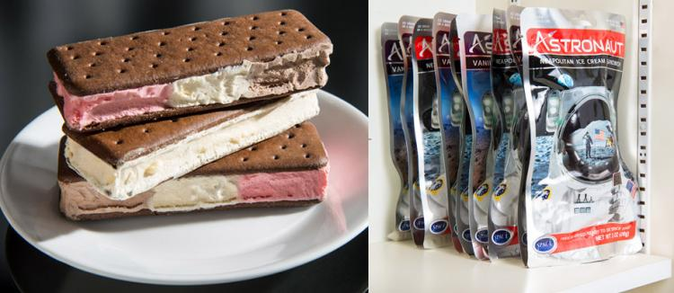 Freeze-dried Ready-to-Eat Astronaut Space Desserts - Ice Cream Sandwich