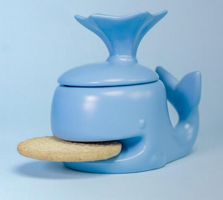 Whale Coffee Mug That Holds a Cookie In Its Mouth