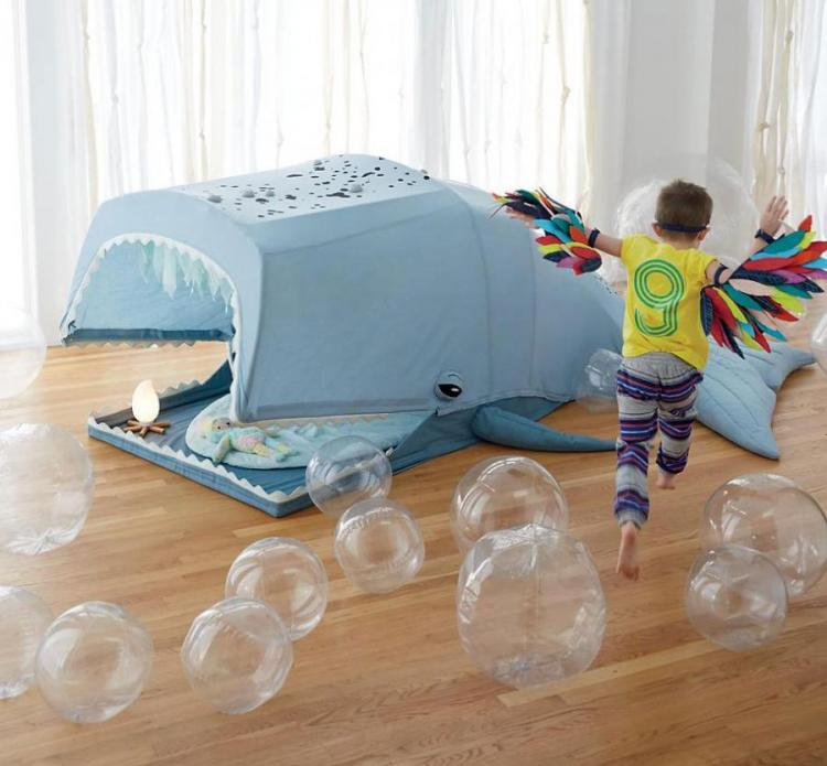 Giant Whale Playhouse Lets Kids Play Inside Whales Mouth