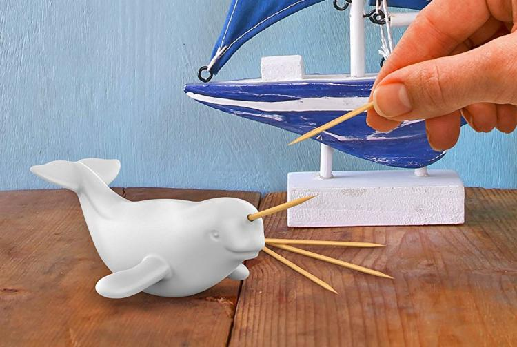 Narwhal Toothpick Dispenser