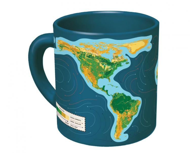 Global Warming Coffee Mug Shows You Water Rising On Earth When Hot Liquid Is Added