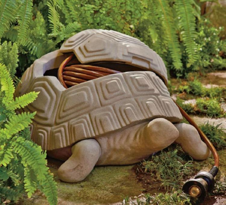 Turtle Shaped Garden Hose Hider