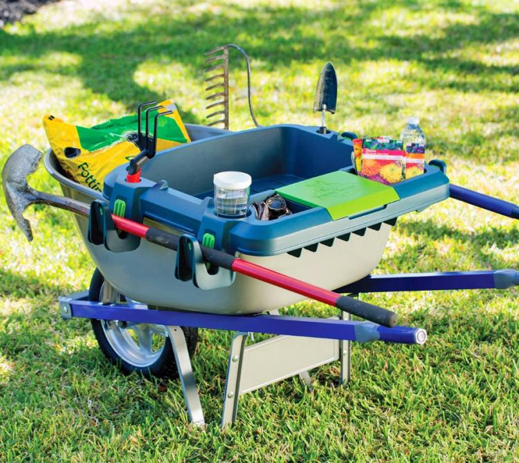 Little Burro Attaches To Your Wheelbarrow For Extra Organization