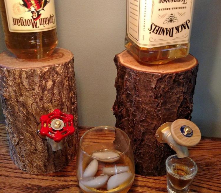 The Liquor Log Dispenses Booze Through A Log