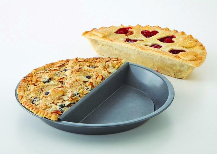 Split Decision Pie Pan Makes Two Different Pie Flavors At Once