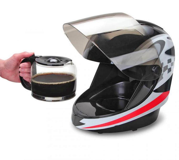 Motorcycle Helmet Coffee Maker