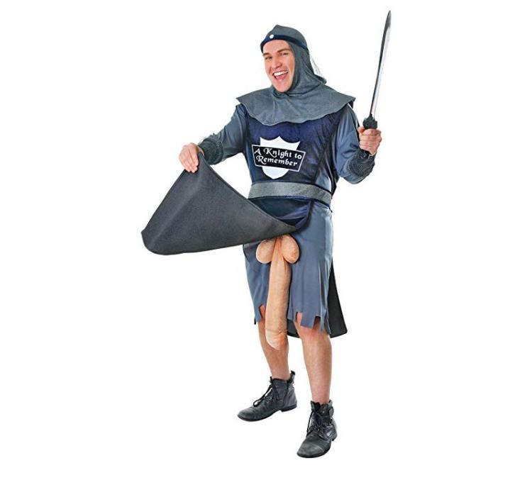 A Knight To Remember Costume - Huge Wiener Behind Medieval Knight Costume