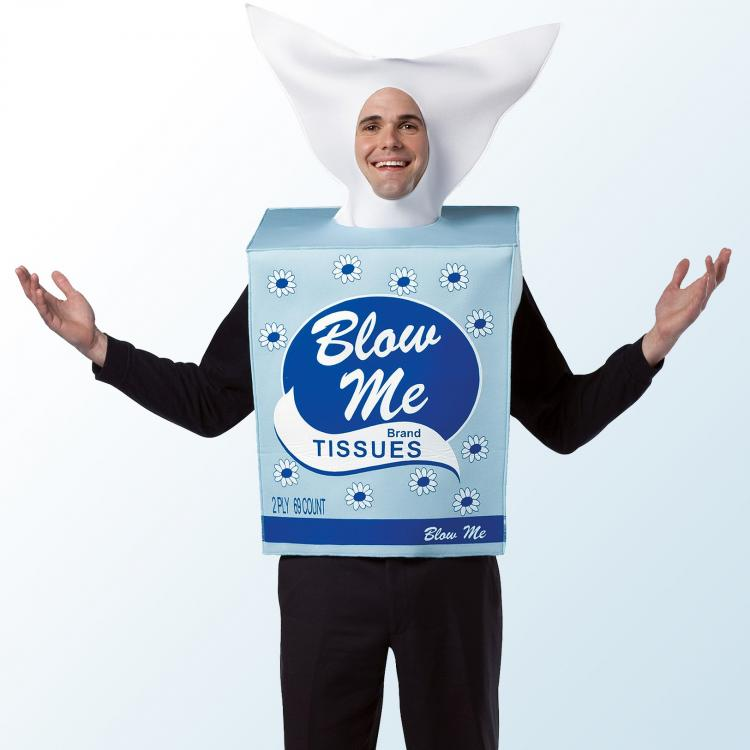 Blow Me Tissue Box Costume