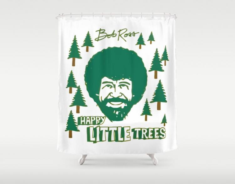 BONUS: Bob Ross Shower Curtain