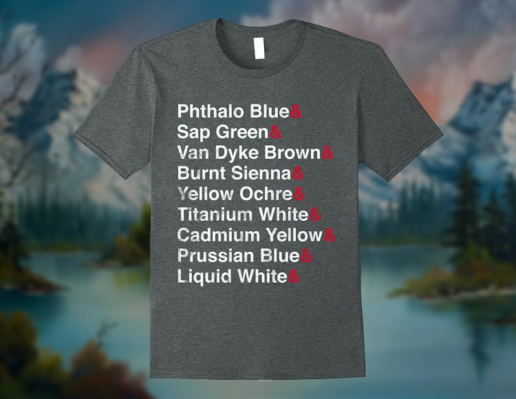 Bob Ross List of Color Palette T-Shirt
