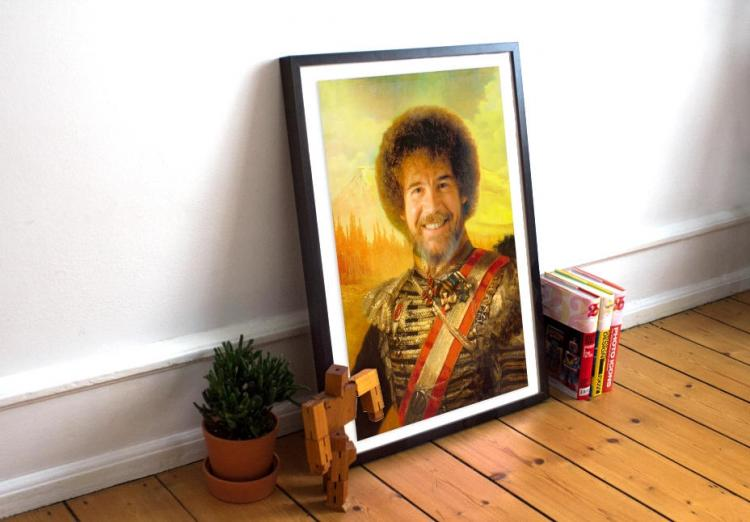 Painting of Bob Ross as a Civil War General