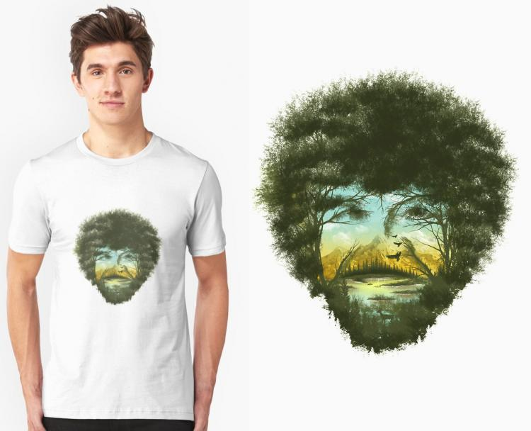 Bob Ross Made From Happy Trees T-Shirt