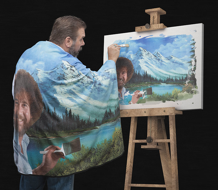 Bob Ross Happy Little Blanket