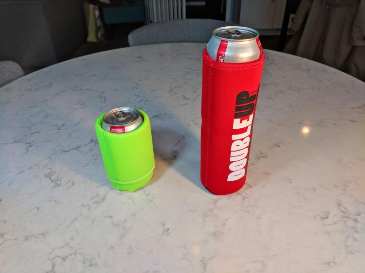 Double Beer Koozie Holds 2 Cans at a Time