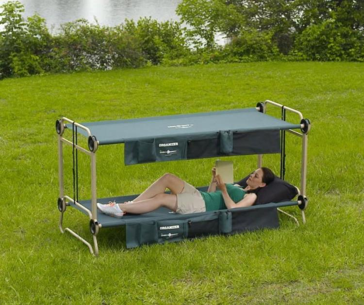 Adult Camping Bunk-Bed, Turns Into a Sofa During The Day