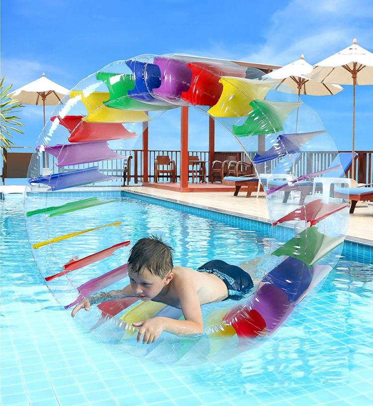 Inflatable Water Wheel Roller