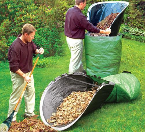 Giant Bendable Tarp - Easy Leaf Bag Loader