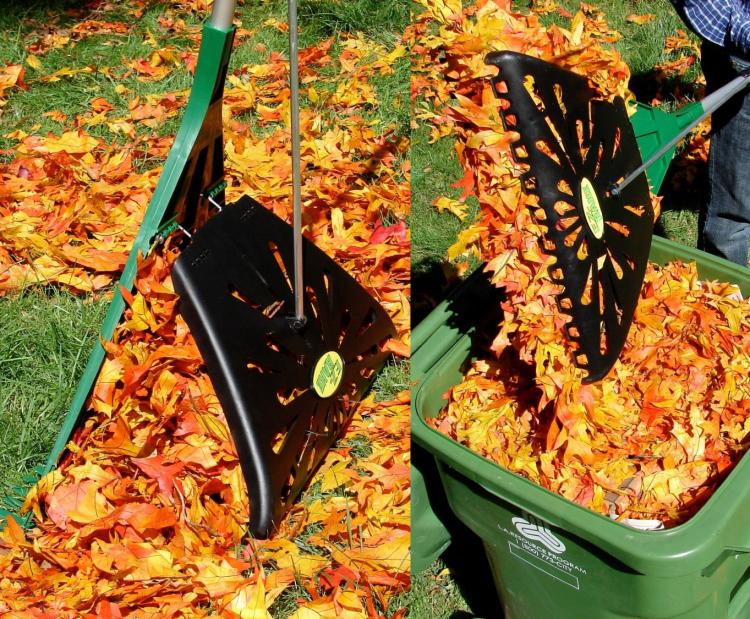 E-Z Rake - Rakes and Easily Picks Up Leaves