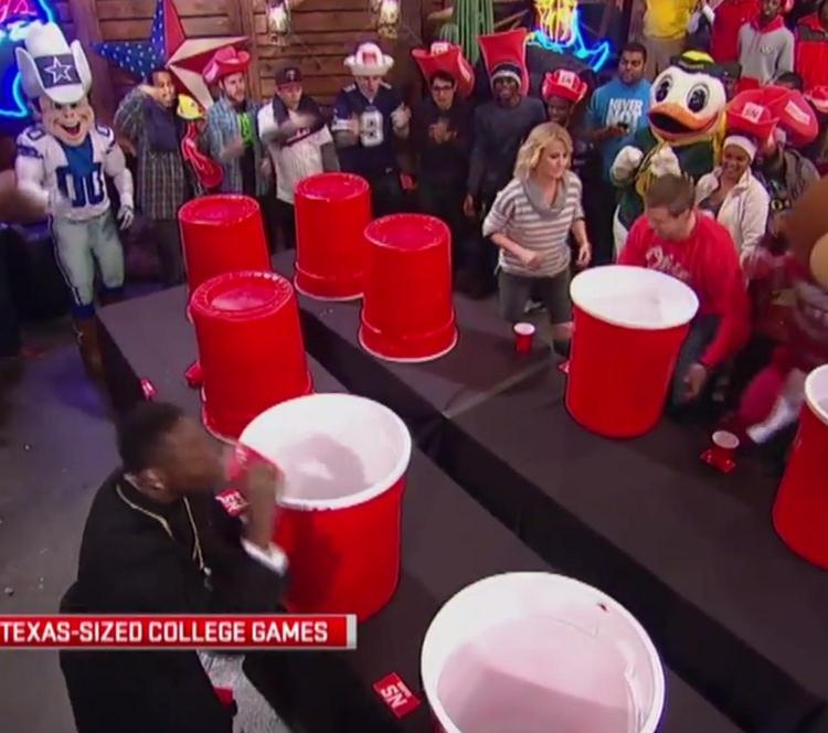 Giant Flip Cup Drinking Game