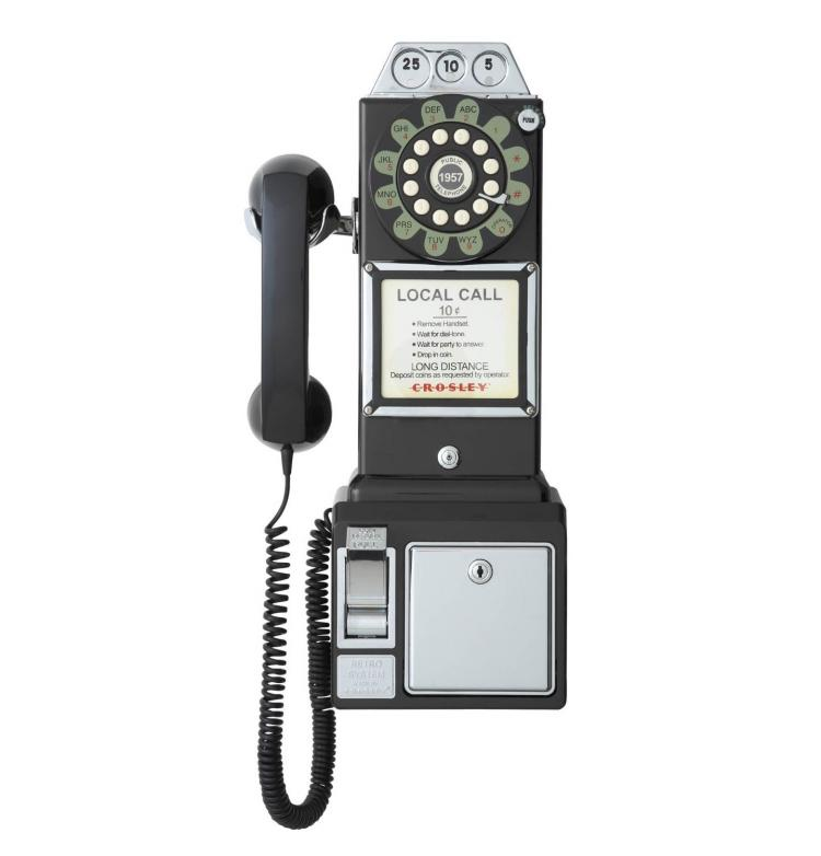 This 1950's Payphone Actually Works As Your Home Phone