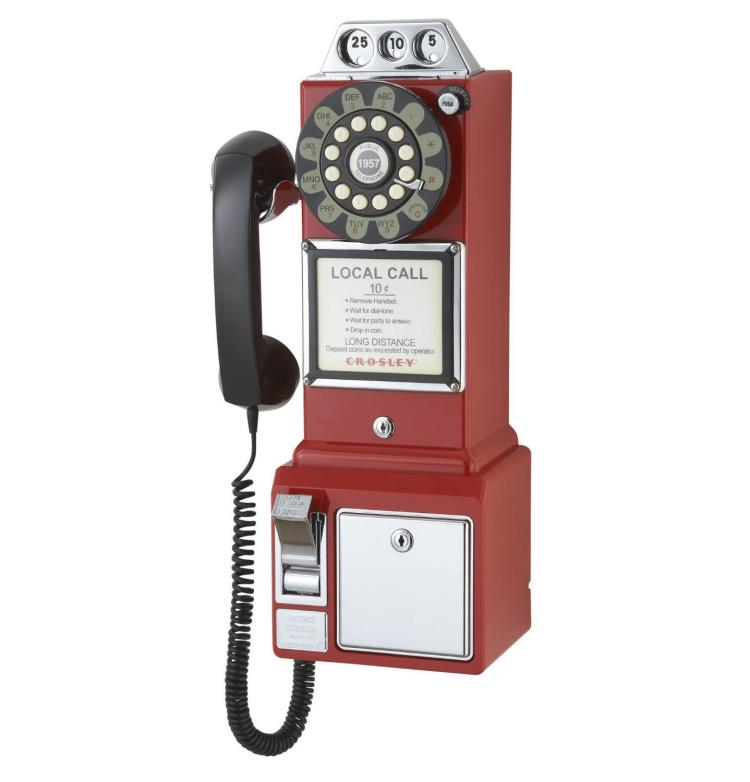 1950's Payphone Replica Landline Phone
