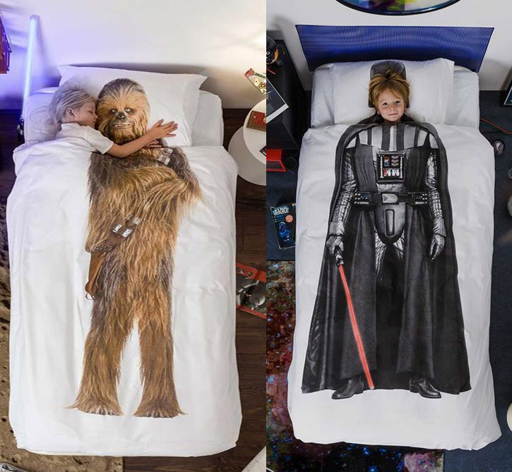 Star Wars Chewbacca and Darth Vader Duvet Bed Cover and Pillowcase