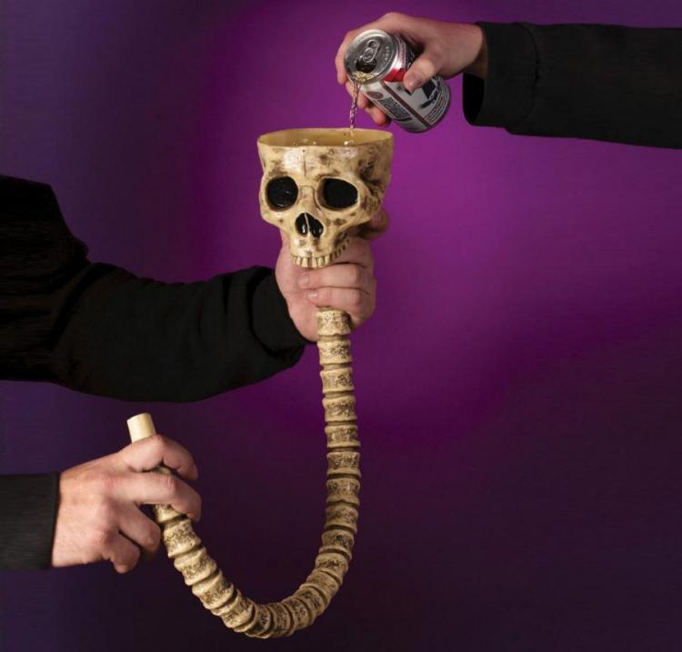Skull And Spine Beer Bong
