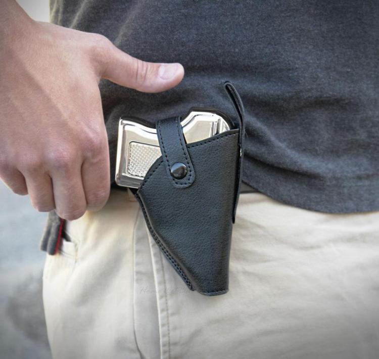 Pistol Flask With Belt Holster