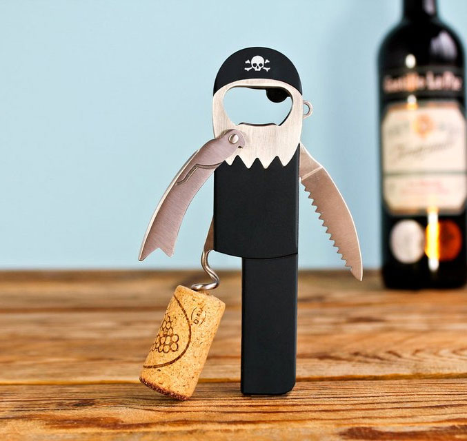 Legless Pirate Bottle Opener & Corkscrew