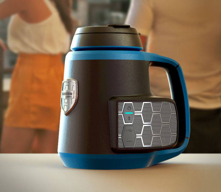 Dubstein: A Drink Koozie With An Integrated Bluetooth Speaker