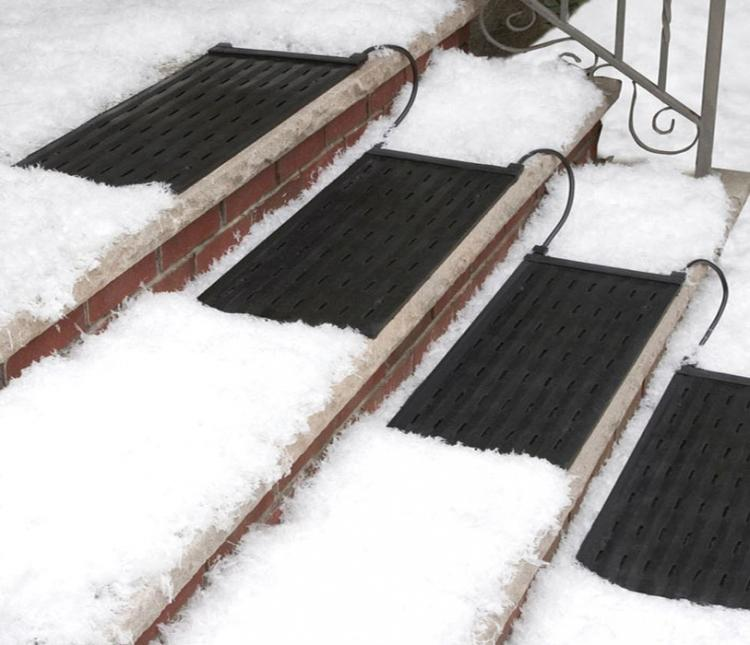 Heated Stair Mats Melt Snow and Ice From Your Outdoor Stairs