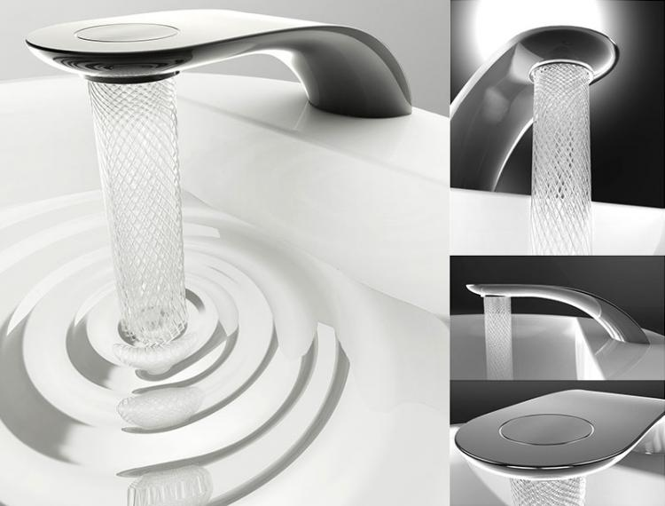 This Sink Faucet That Makes A Beautiful Swirl Design With The Water